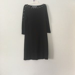 Karen Scott Studded Swing Dress S Size Black